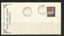 ITALIA REPUBBLICA ITALY REPUBLIC SAN GIACOMO DI VEGLIA (TREVISO) 22 3 1952 FRANCOBOLLO SPORTIVO FDC - FDC