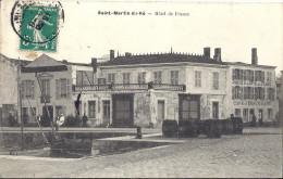 Cp 17 SAINT ST MARTIN DE RE  L' Hotel De France ( Port Bateau Café Restaurant  Terrasse Fut Annexe Cuisinier )