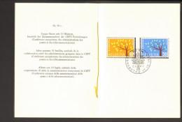 Schweiz FDC Faltblatt D.PTT Schweizer Post Nr.47 Mit Ersttagsstempel, 1962 Europamarken  2 Bilder - FDC