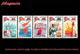 ASIA. COREA DEL NORTE MINT. 1989 40 ANIVERSARIO DE LA REPÚBLICA POPULAR DEMOCRÁTICA DE COREA - Korea, North