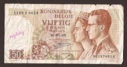 België 50 Frank 14-5- 1966 -NO: 1185 I 6614 - 50 Francs