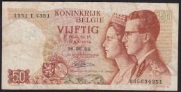 België 50 Frank 14-5- 1966 -NO: 1351 I 4351 - [ 6] Treasury