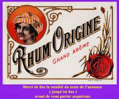 Étiquette Ancienne N°3 De RHUM. Distillerie Indéterminée. Parfait état. Voir Description Bien Détaillée. - Rhum