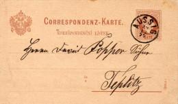 AUTRICHE ENTIER POSTAL AUSSIG 1877 - Interi Postali