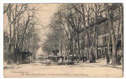 13- Aix - Cours Mirabeau- Fontaine Des Neuf Canons -la Sous Préfecture - Aix En Provence