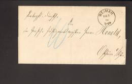 """DR Brief V.1876 Aus Weimar D.Großherz.Amt F.Finanzen Nach Ostheim Ohne Vermerk """"frei Lt.Ablösung Nr.15"""" 2 Bilder - Dienstpost"""