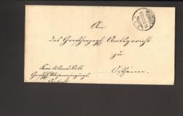 """DR Brief V.1892 Aus Weimar  Nach Ostheim Mit Handschriftlichem Vermerk """"frei Lt.Ablösung Nr.15"""" Ankunftstempel 2 Bilder - Officials"""
