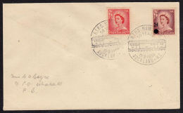 B0401 NEW ZEALAND 1959, 50th Anniv Travelling Post Office (RTPO), Whakatu Backstamp - Covers & Documents