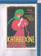 AB56525 PUBBLICITA MANIFESTI SU CARTA KATABEXINE COMPRESSE EFFERVESCENTI MANIFESTO LEONETTO CAPPIELLO 1985 - Advertising