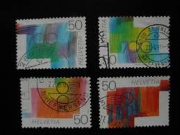 Schweiz 1991  Michel 1438 1439 1440 1441 (20%) - Zwitserland