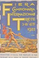 Illustratore Orell - 1922 Fiera Campionaria Internazionale Trieste - Künstlerkarten