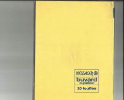 Paquet  de 15  Buvards Superieur de 4  Couleurs  Differente ( Messager )