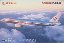 Carte Prépayée Japon - AVION - AMERICAN AIRLINES / USA - Airplane Airline Japan Prepaid Card Flugzeug Passnet Karte 517 - Flugzeuge