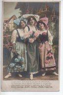 REF 194 CPA Fantaisie Militaria Patriotique Alsace Lorraine 1914 1918 - Patriotic