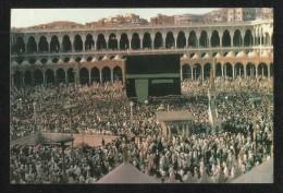 Saudi Arabia Picture Postcard Holy Mosque Ka Aba Mecca - Saoedi-Arabië