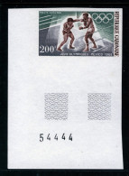 GABON - 1968 MEXICO OLYMPICS 200F BOXING IMPERF CORNER MARGIN STAMP FINE MNH ** SG 330 - Gabon