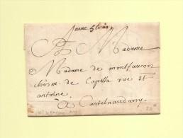 """Baragnie Canon De Castelnaudary - Aude - Mention Manuscrite """"avec 5 Louis"""" - Courrier De 1778 Evoquant Le Vin De Malaga - 1701-1800: Precursors XVIII"""