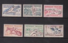 France 1953 Sports Set Mint Hinged - France