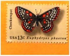 USA: 'Schmetterling - Euphydryas Phaeton, 1977' / 'Butterfly Checkerspot', Mi. 1301; Yv. 1161; Sc. 1713 * - Unclassified