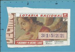 LOTARIA NACIONAL - 49.ª ORD. - 09.12.1994 - IGREJA DE S. ROQUE - Portugal - 2 Scans E Description - Loterijbiljetten