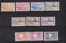 New Hebrides 1957 Definitives 10 Val Mint Hinged - Nouvelles-Hébrides