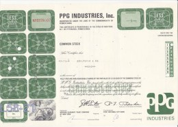 Shares: USA 1970 PPG Industries Inc. 1 Shares (L58-21) - Shareholdings