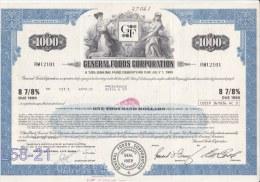 Bond: USA 1974 General Foods Corporation 8 7/8% 1000$ (L58-21) - Shareholdings