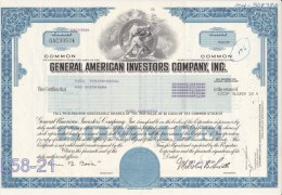 Shares: USA 1979 General American Investors Company, Inc. 100 Shares (L58-21) - Shareholdings