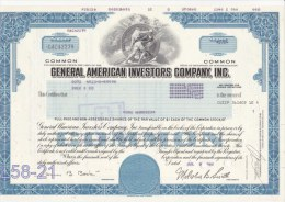 Shares: USA 1980 General American Investors Company Inc. 100 Shares (L58-21) - Shareholdings