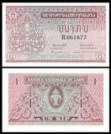 Laos 1962 1 Kip Banknote UNC 1 Piece Elephant - Laos