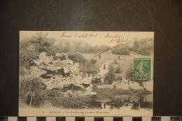 Cp, 62, Arras, La Grotte Du Square Méaulens, Voyagée 1911 - Arras