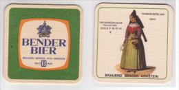 Bender Brauerei , Arnstein - Unterfränkische Trachten Serie II Nr. 9 Ochsenfurter Gau - Bierdeckel