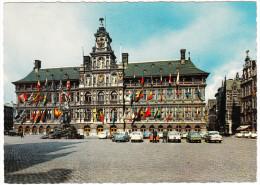 Antwerpen: FIAT 1100, GOGGOMOBIL, FORD TAUNUS P7, PEUGEOT 404, OPEL REKORD P1 & P2, VW 1200 - Grote Markt - Anvers - (B) - Turismo