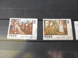 PÉROU TIMBRE OU SÉRIE YVERT N° 596+598 - Peru