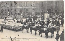 23907 PARIS - Fêtes Du Centenaire République - Hommage Poilu Inconnu -gambetta Char -11 Nov 1920 - L Abeille- Senans - Guerre 1914-18