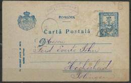 B.14.AUG.360.  BRIEFKAART  VERSTUURD  VAN  ROEMENIE  NAAR  DUITSLAND.  1918. - 1918-1948 Ferdinand, Charles II & Michael
