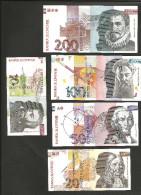 [NC] SLOVENIA - BANKA SLOVENIJE - 10 / 20 / 50 / 100 / 200 TOLARJEV (1992) - LOT Of 5 DIFFERENT BANKNOTES - Slovénie
