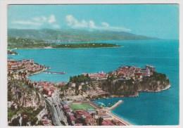 (RECTO / VERSO) MONACO EN 1967 - LE ROCHER ET LE CAP MARTIN AU FOND LA COTE ITALIENNE - BELLE FLAMME - Monaco