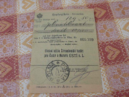 Polna Empfangschein Stvrzenka Austria Österreich Czech Republic Čechy A Morava Böhmen Und Mähren 1890? - Boemia E Moravia