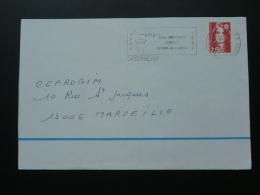 973 Guyane Cayenne Aéroport Rochambeau - Flamme Sur Lettre Postmark On Cover - Vliegtuigen