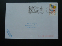 56 Morbihan Baud Costume - Flamme Sur Lettre Postmark On Cover - Kostüme