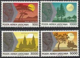 1990 VATICANO POSTA AEREA I VIAGGI PAPA NEL MONDO GIOVANNI PAOLO II MNH ** - ED - Posta Aerea