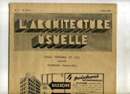 -L'ARCHITECTURE USUELLE . N°3 1936 . DOSSIER GROUPE SCOLAIRE ET PAVILLON DE BAINS DOUCHES A ALENCON . - Books, Magazines, Comics