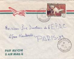 MALAGASY 1974 - Sondermarke auf LP-Brief gel.v. Madagaskar > Paris