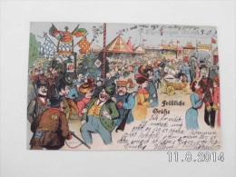Fröliche Grüsse. -- Flensburg. (6 - 10 - 1904) - Flensburg