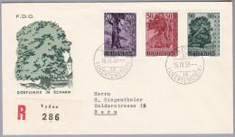 Liechtenstein 1959-IV-15 Vaduz FDC R-Brief Nach Bern - Liechtenstein