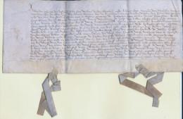 Mechelen - 15e eeuw - Erfbrief op perkament gedateerd 13 december 1481 - cijns op huis in de Adegemstraat
