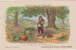 Cpa Fable De La Fontaine Publicitaire Solution Pautauberge Le Gland Et La Citrouille - Fairy Tales, Popular Stories & Legends