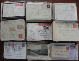 FRANCE : LOT environ 8kg de lettres semi-moderne, � trier...