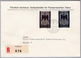Liechtenstein 1956-VIII-21  Vaduz R-Brief Nach Zürich 8 - Liechtenstein